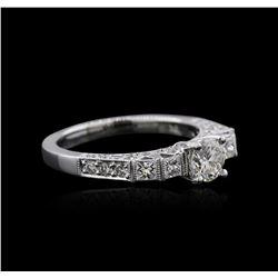 18KT White Gold 1.21 ctw Diamond Ring