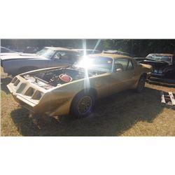 1980 PONTIAC TRANS AM WS6 CAR SOLAR GOLD