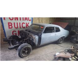 1974 PONTIAC GTO RESTORATION STARTED, ALL PARTS FOR ROLLING CHASSIS AUTOMATIC CAR WITH WITH 308 POSI