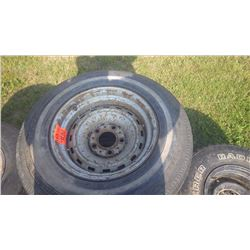 4 CHEV 2WD TRUCK RALLY WHEELS AND 2 CHEV 4WD RALLY WHEELS