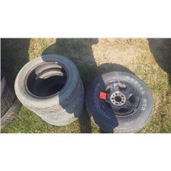 3 TIRES ONLY TEMPRA TOURING P185/60/R14, 1 GM SUV SPARE RIM AND TIRE P225/75/R15