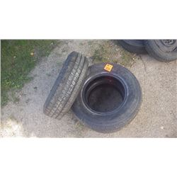 1 GM SPARE TRUCK TIRE AND ROM 225/70/R16, 2 HANCOCK DYNAMIC LT 225/70/R16