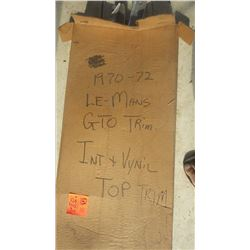 1970 - 72 LEMANS GTO INTERIOR AND VINYL TOP