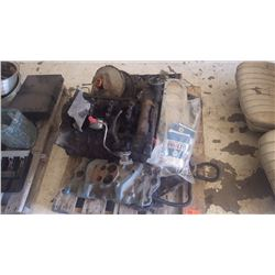 PONTIAC 400 REBUILDABLE ENGINE BLOCK WITH HEADS, INTAKE MANIFOLD, ETC