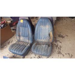 EARLY 1970 - 72 BLUE TRANS-AM/FIREBIRD BUCKET SEATS
