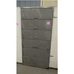 6 DOOR METAL CABINET WITH PAINT SPRAY CAN CONTENTS