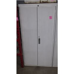 METAL 2 DOOR WITH VARIOUS AUTOMOTIVE OILS/CLEANERS AND GREASE