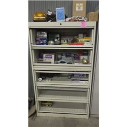 5 DOOR LATERAL FILE CABINET AND CONTENTS