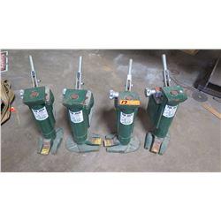 Qty 4 Hilman Roller 5-Ton Tow Jacks