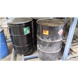 Qty 3 Empty Metal Drum 55-Gallon, Appears Unused, (Marked Flammable & Non-Hazardous Waste).