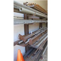 6-Tier Metal Pipe Rack - 22 ft Long, Contents Not Included