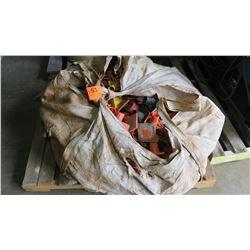 Large Burlap Bag w/Rebar, Safety Caps