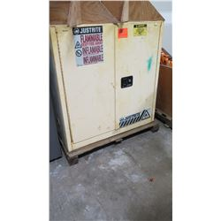 Just-Rite Sure-Grip Flammable Liquid Storage Cabinet w/Contents
