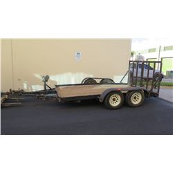 Dual Axle Trailer - Deck 7ft x 12 ft (Back & Front Section Sloping)