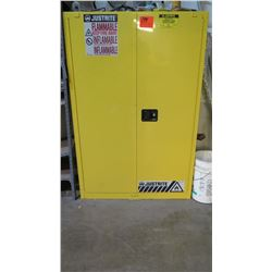 Just-Rite Sure-Grip EX Flammable Liquid Storage Cabinet (45 Gal Capacity) w/Contents
