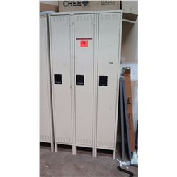 Qty 3 Tennsco Lockers - Contents Not Included