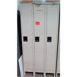 Qty 3 Tennsco Lockers