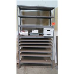 Metal Framed Shelving Unit