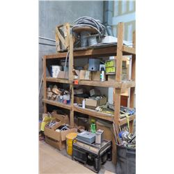 Contents of Shelving: Electrical Supplies, Wire, Breakers, Conduit, etc.