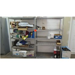 Qty 2 Metail Shelves - Contents Not Included