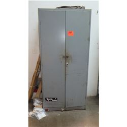 Metal Storage Cabinet - Includes Contents (office supplies)