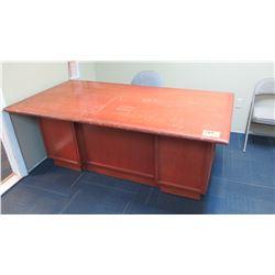 Wooden Desk w/Chair (Rough Condition)