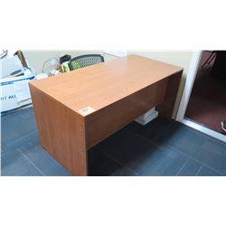 Wooden Desk (Oak Veneer) w/Chair