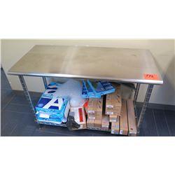Metal Office Work Table w/Undershelf