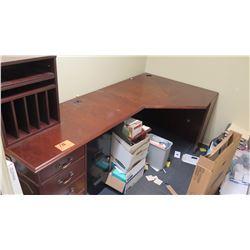 Wooden Desk with Organizer