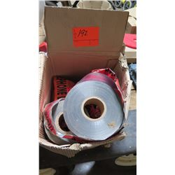 Box of Red/Orange Safety Caution Tape