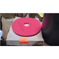 Qty 4 Red Buffer Pads, 3M