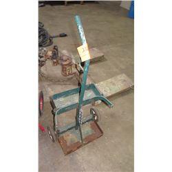 Green Metal Cart (for welding tanks?)