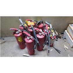 Qty 8 Fire Extinguishers