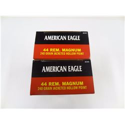 100 ROUNDS AMERICAN EAGLE .44 REM MAG 240 GR JHP