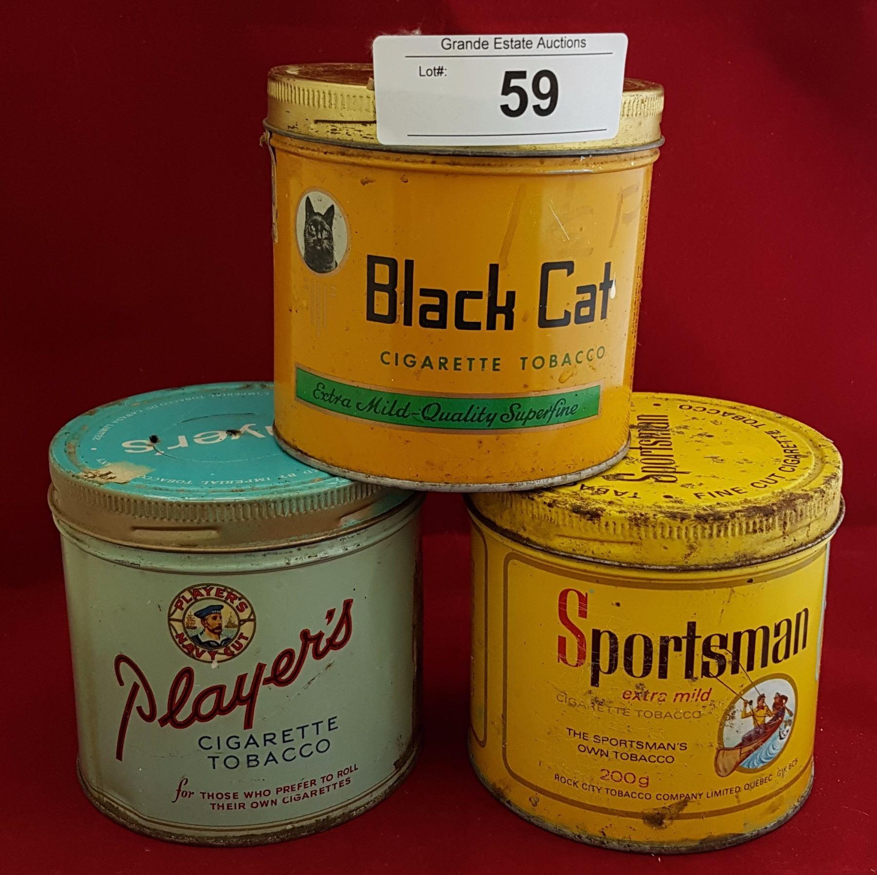 Think, vintage cigarette tins are