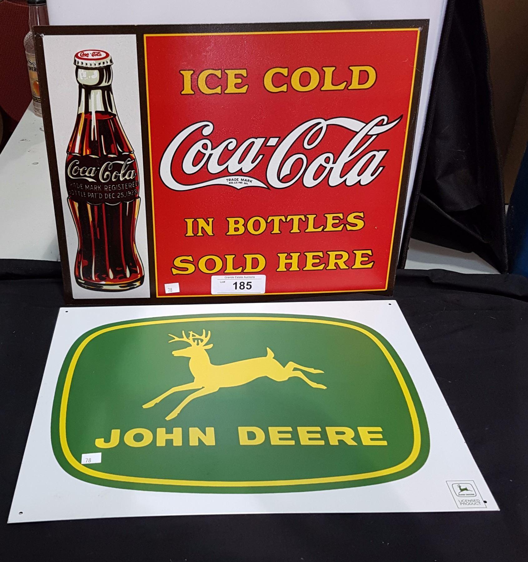 COCA COLA & JOHN DEERE TIN SIGNS