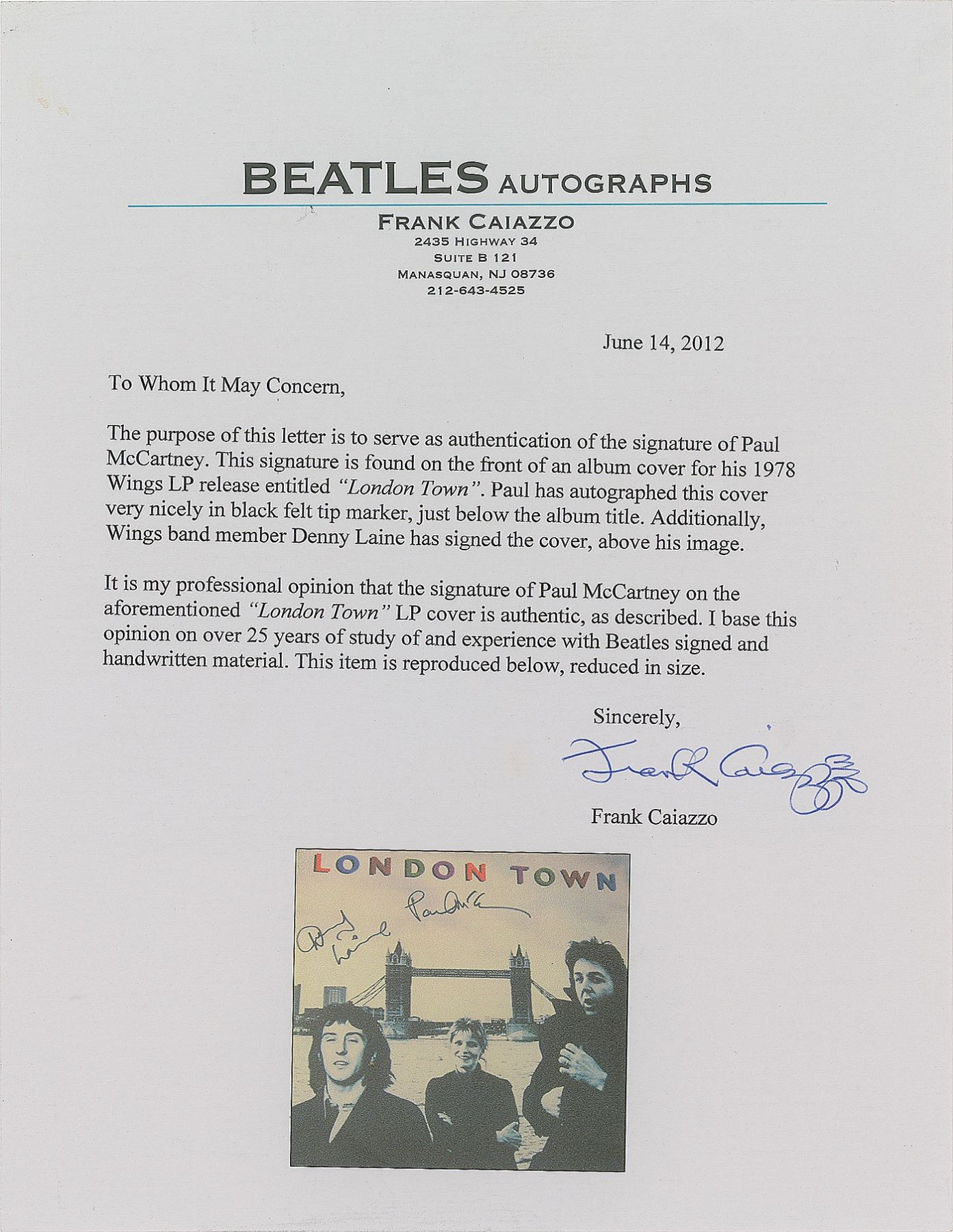 Paul McCartney and Denny Laine Signed Album