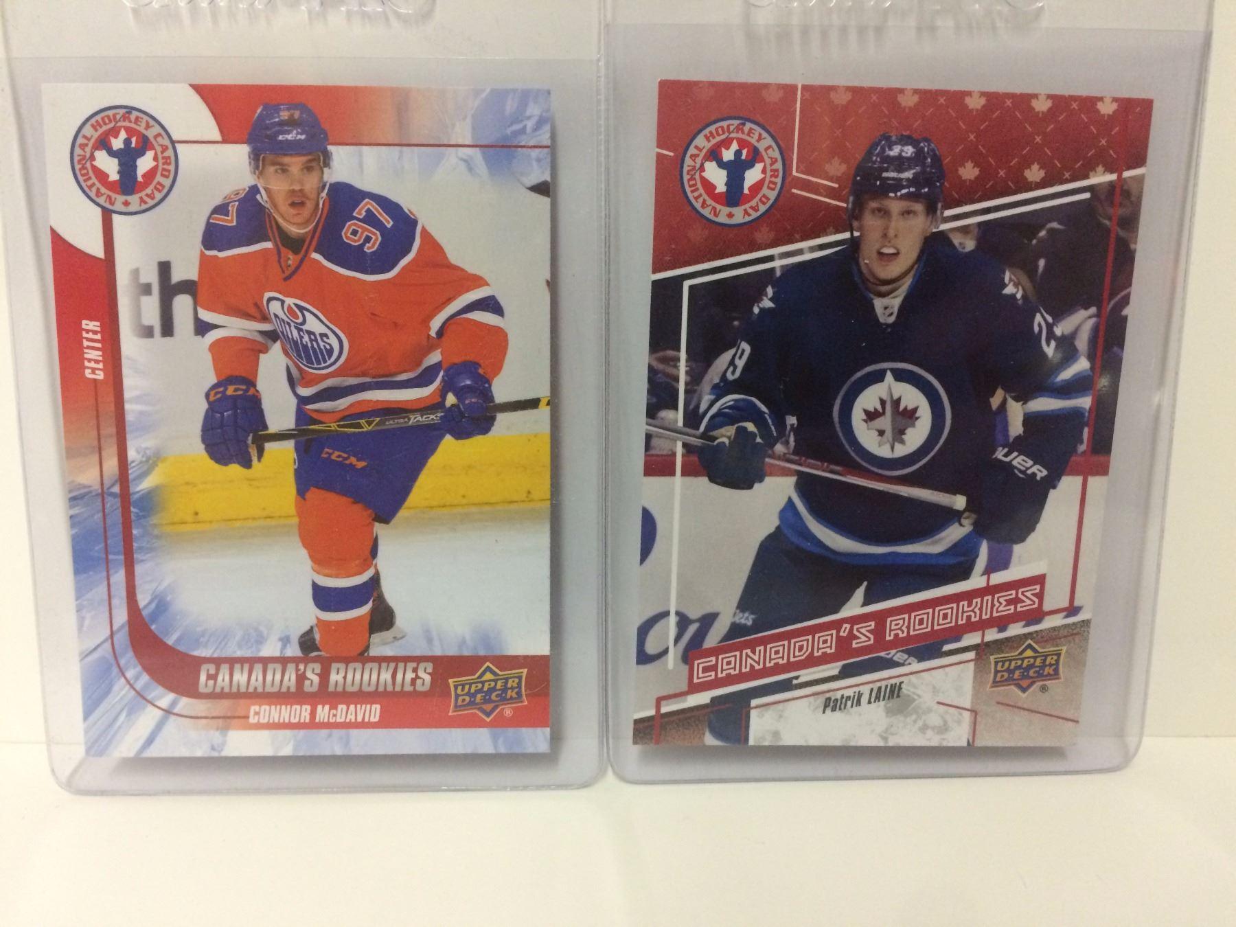 Connor Mcdavid Patrik Laine Upper Deck Rookie Hockey Cards