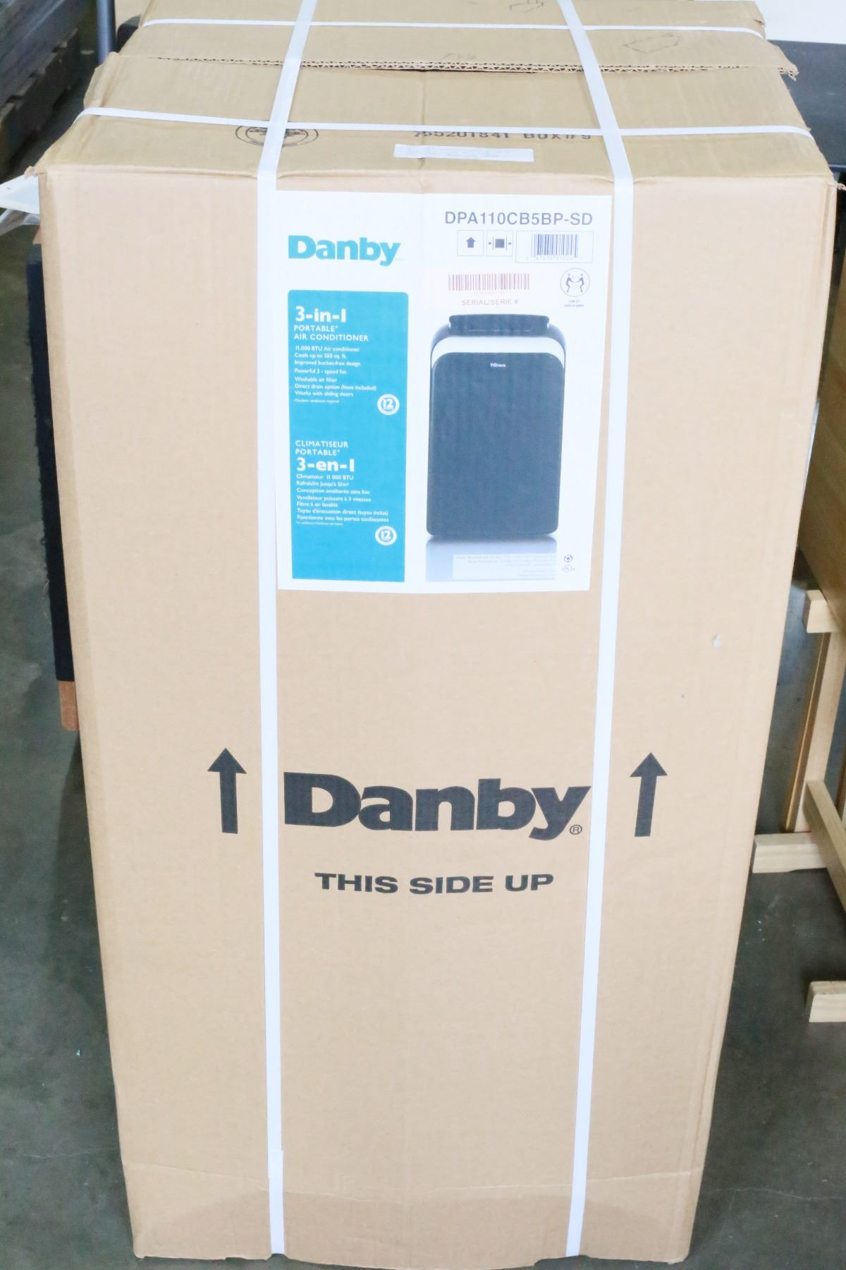 NEW DANBY REFURBISHED 3 IN 1 PORTABLE 11,000 BTU AIR CONDITIONER WITH ONE  YEAR WARRENTY