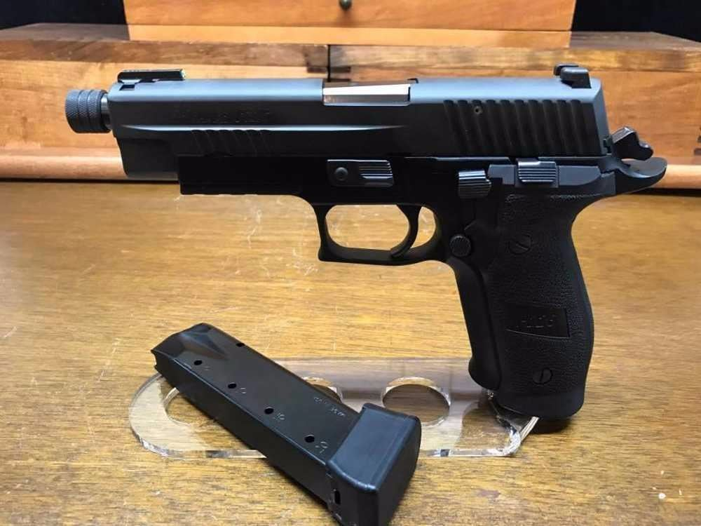 Sig Sauer P226 Tac Ops 9mm 4 mags with Threaded Barrel