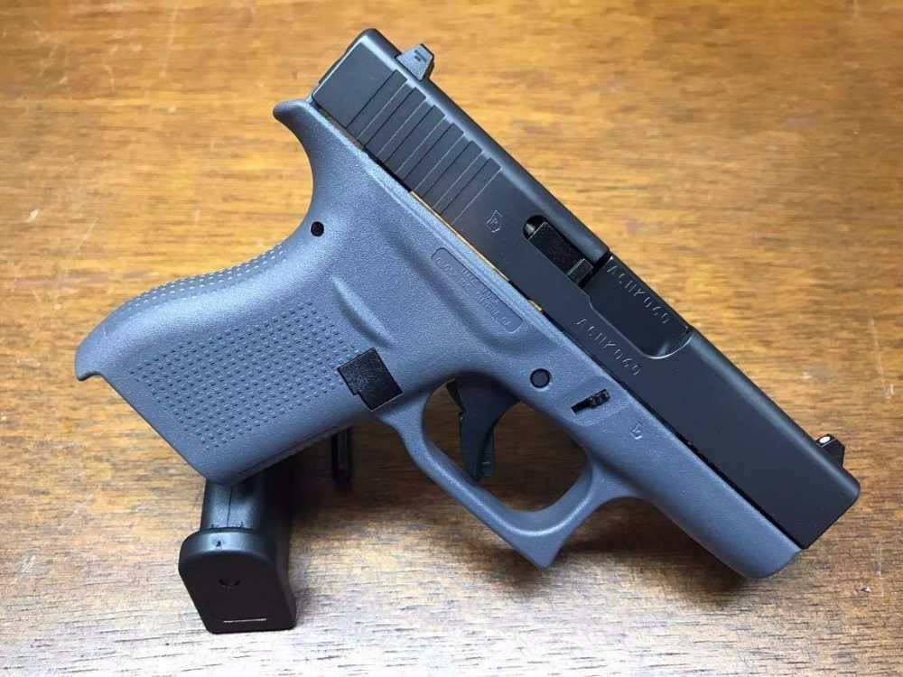 Glock 42  380 Single Stack Gray Auto Slim Line