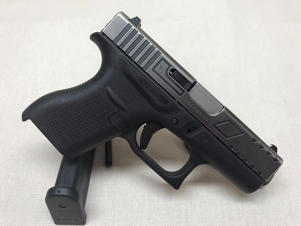 Glock 42  380 Battle Worn with Relief Cut