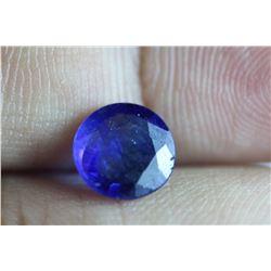 Natural Royal Blue Burma Sapphire 3.14 Carats