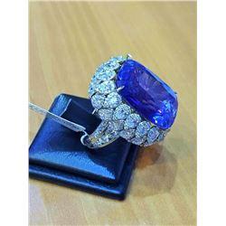 Natural Kashmir Sapphire 35 Carats - Gubelin