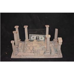 ZZ-CLEARANCE MINIATURE ANCIENT GREEK & ROMAN RUINS BUILT BY GRANT MCCUNE 1