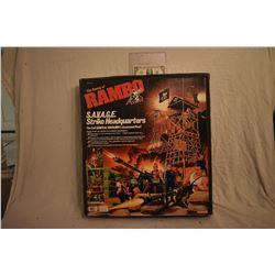 RAMBO S.A.V.A.G.E. STRIKE HEADQUARTERS 1985 MINT & STILL SEALED ACTION FIGURE PLAY SET 2