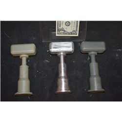 ZZ-CLEARANCE MINIATURE FLOOD LIGHT FIXTURES METAL MASTER AND 2 RESIN CASTINGS