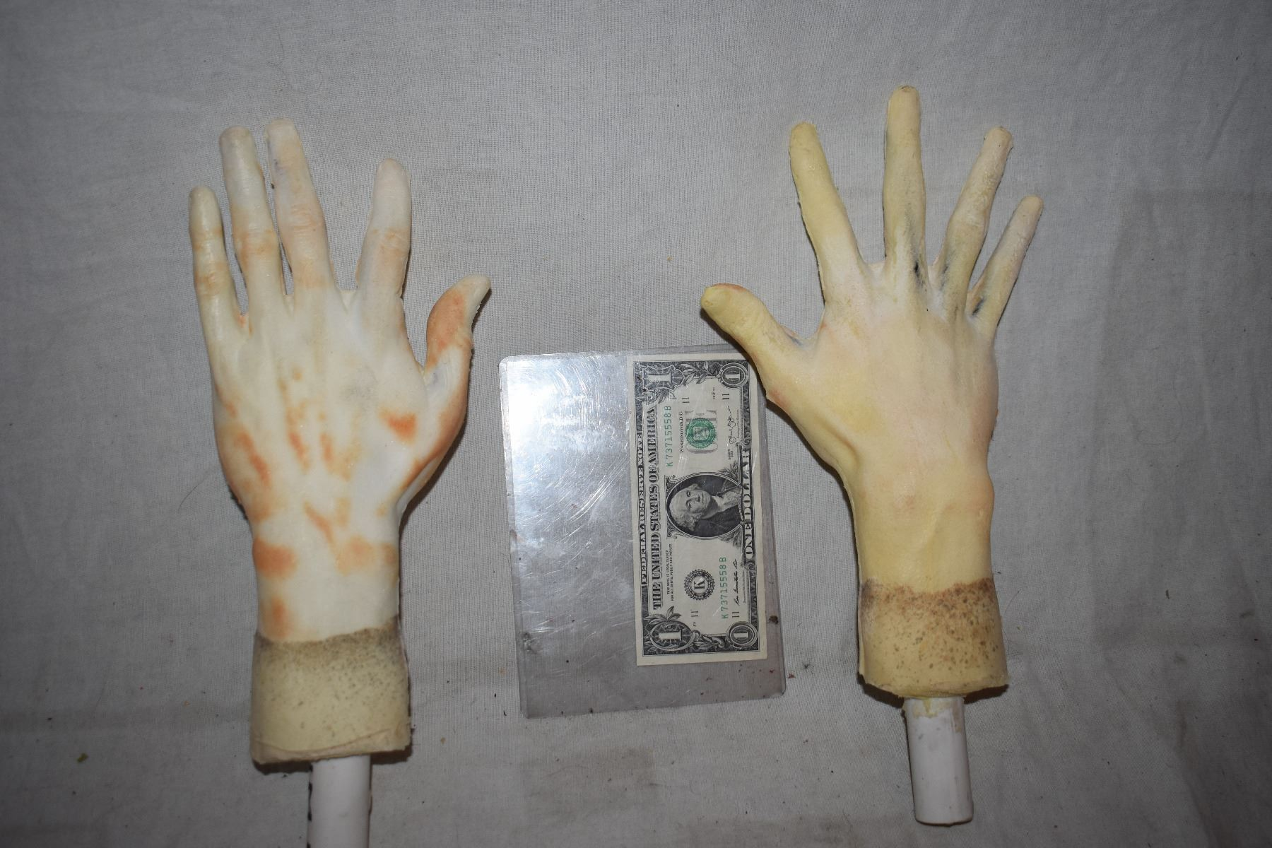 poseable armatured matched pair of hands for dummy or mannequin