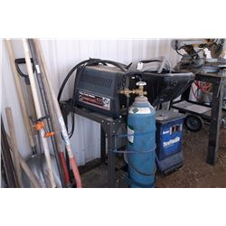 Farm Hand 115 Wire Feed Welder- Bottles- Leads- Cart