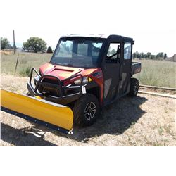 2014 Polaris Ranger Side by Side-4X4- Low and High Range- Add On Cab- Heater- Fan- Adjustable Blade
